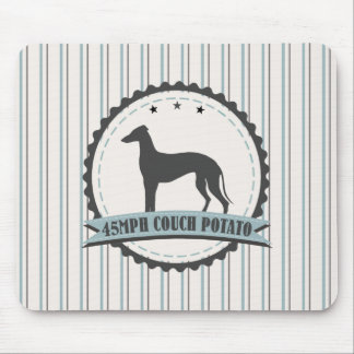 Greyhound Retired Racer 45mph Lazy Dog Mouse Pad