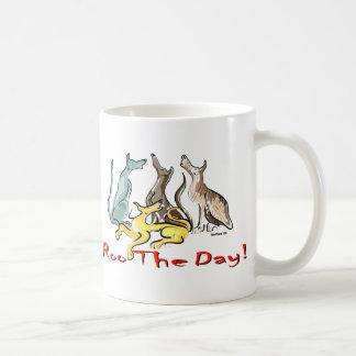 greyhound roo coffee mug