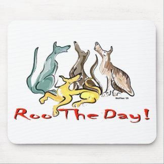 greyhound roo mouse mat