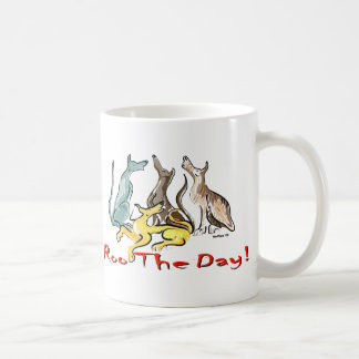 greyhound roo basic white mug
