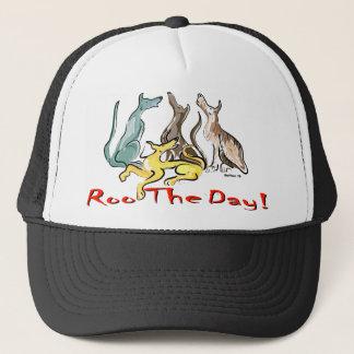 greyhound roo trucker hat
