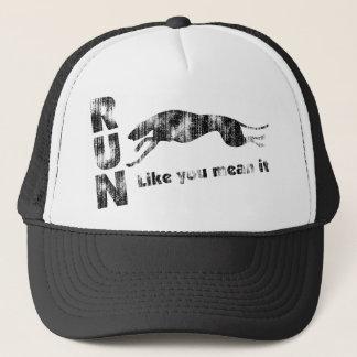 Greyhound Run Like You Mean It Trucker Hat