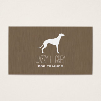 Greyhound Silhouette Business Card