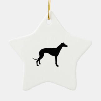 Greyhound Silhouette Christmas Ornament