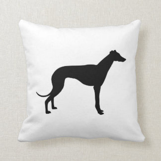 Greyhound Silhouette Cushion