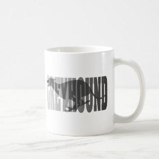 Greyhound Silhouette, Grey Coffee Mug