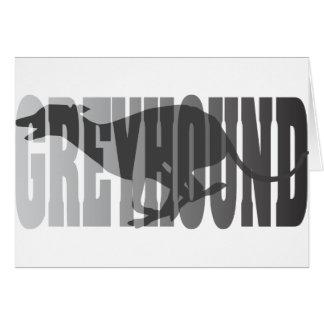 Greyhound Silhouette, Grey Greeting Cards