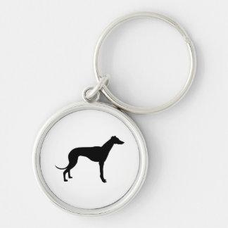 Greyhound Silhouette Key Ring