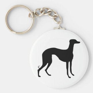 Greyhound Silhouette Key Ring