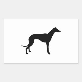 Greyhound Silhouette Rectangular Sticker