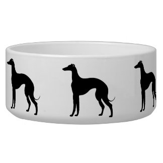 Greyhound Silhouettes in Black and White Pet