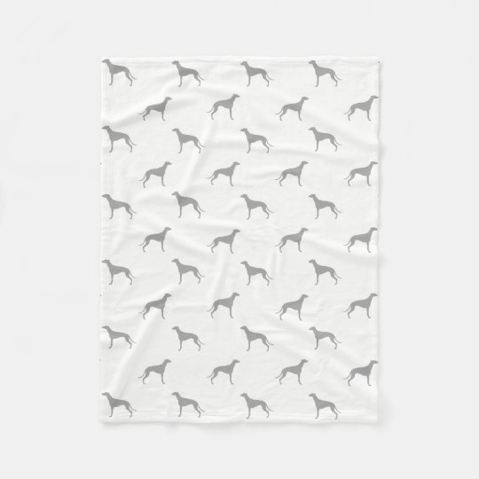 Greyhound Silhouettes Pattern Fleece Blanket
