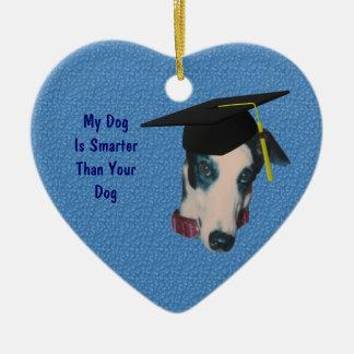 Greyhound Smarter Funny Dog Ornament