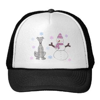 Greyhound & Snowman Mesh Hats