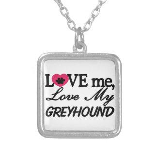 Greyhound Square Pendant Necklace