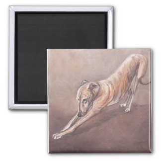 Greyhound Stretch Dog Art Magnet