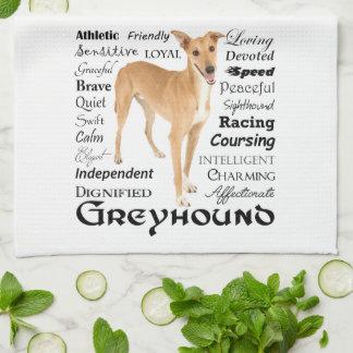 Greyhound Traits Kitchen Towel