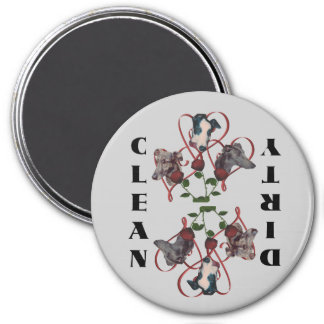 Greyhound Trio Hearts Dog Dishwasher Magnet