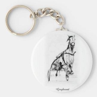Greyhound Trotter Key Ring