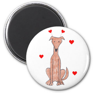 Greyhound Valentine Ears Magnet