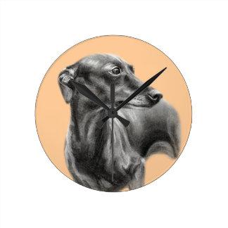 Greyhound Wallclock