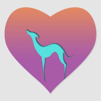 Greyhound/Whippet blue orange violet Stickers