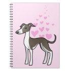 Greyhound / Whippet / Italian Greyhound Love Notebook