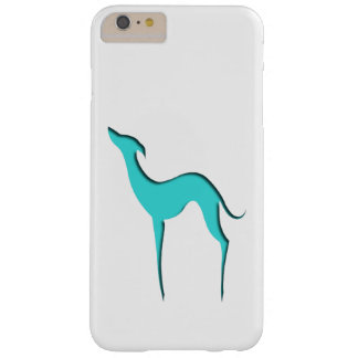 Greyhound/Whippet turquoise silhouette Barely There iPhone 6 Plus Case