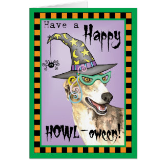 Greyhound Witch Card