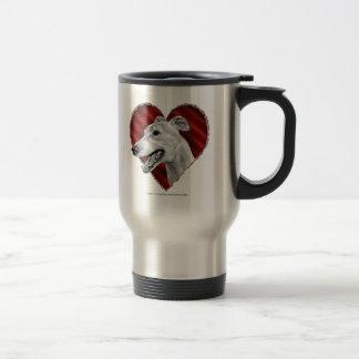 Greyhound with Heart Mugs