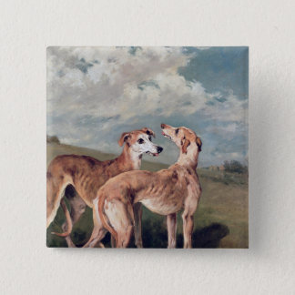 Greyhounds 15 Cm Square Badge