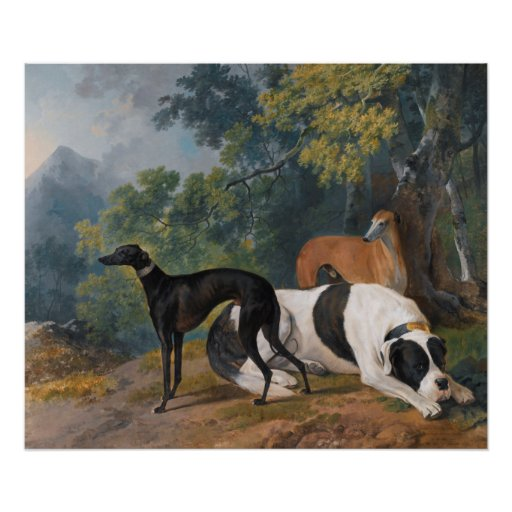 Greyhounds and Mastiff by Sawrey Gilpin Poster