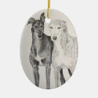Greyhounds Christmas Ornament