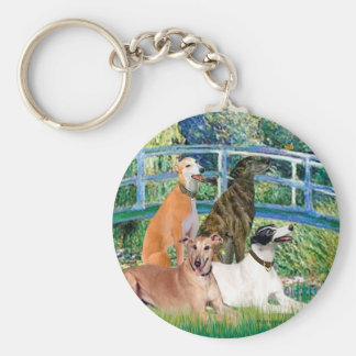 Greyhounds (four) - Bridge Key Ring