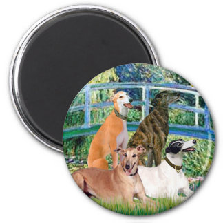 Greyhounds (four) - Bridge Magnet