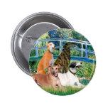 Greyhounds (four) - Bridge Pinback Buttons