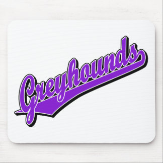 Greyhounds in Purple Mouse Pad