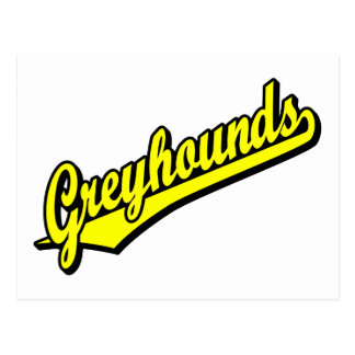 Greyhounds in Yellow Postcard