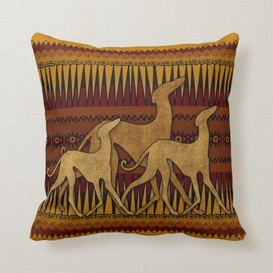 Greyhounds of lAzawakh Throw Pillow