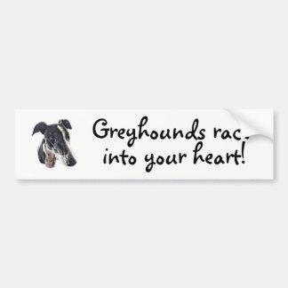 Greyhounds race into your heart bumper sticker