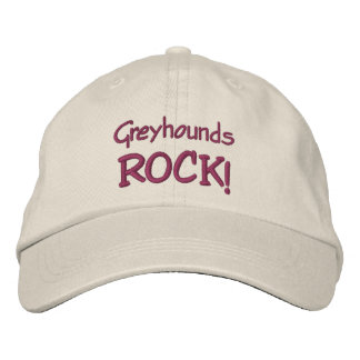 Greyhounds Rock Cute Embroidered Hat