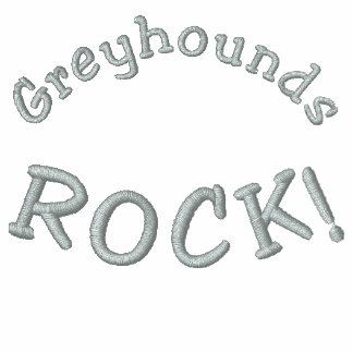 Greyhounds Rock Embroidered T Shirt