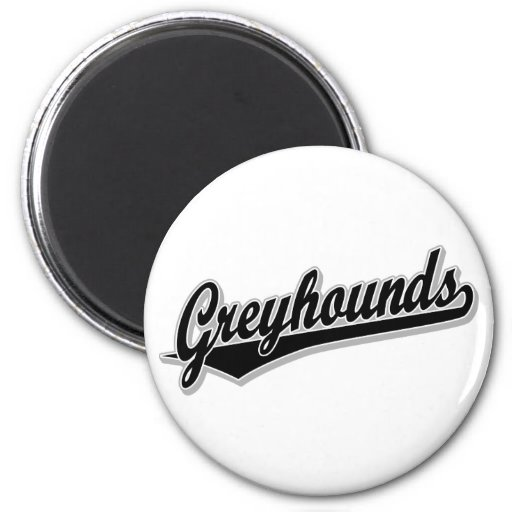 Greyhounds script logo in black and gray refrigerator magnets