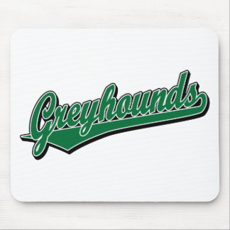 Greyhounds script logo in green mouse pad