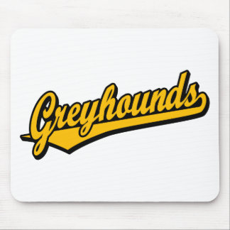 Greyhounds script logo in orange mouse pad