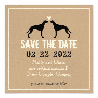 Greyhounds Wedding Save the Date Card