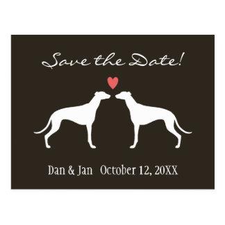 Greyhounds Wedding Save the Date Postcard