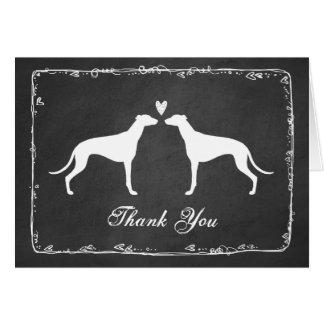 Greyhounds Wedding Thank You Greeting Card