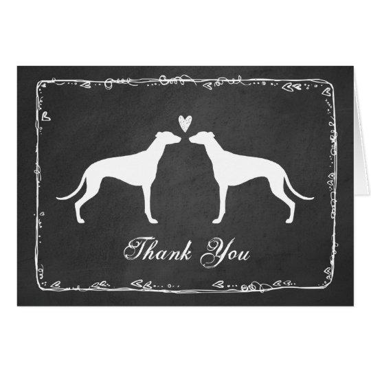 Greyhounds Wedding Thank You Card