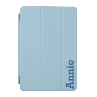 Greyish Green Blue Customizable iPad Mini Cover